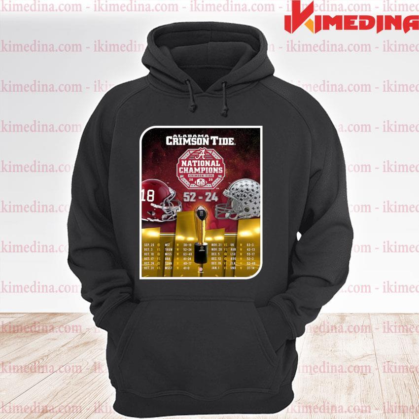 Official alabama crimson tide national champions 2020 52-24 s premium hoodie