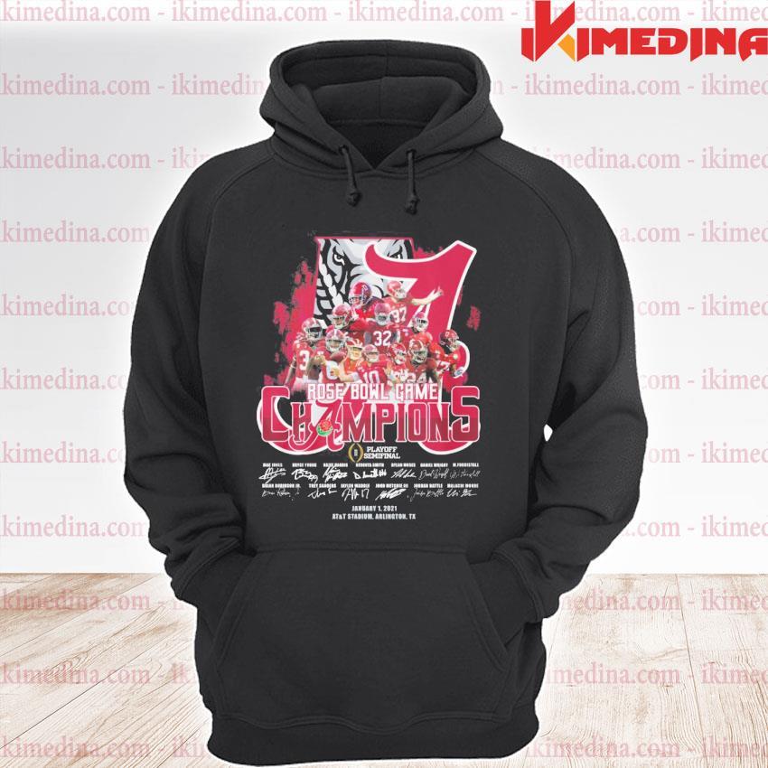 Official alabama crimson tide rose bowl game champions playoff semifinal s premium hoodie