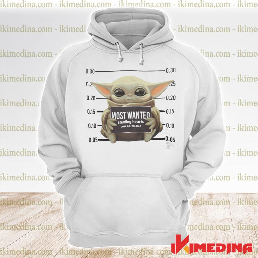 Official baby yoda most wanted stealing hearts s premium hoodie