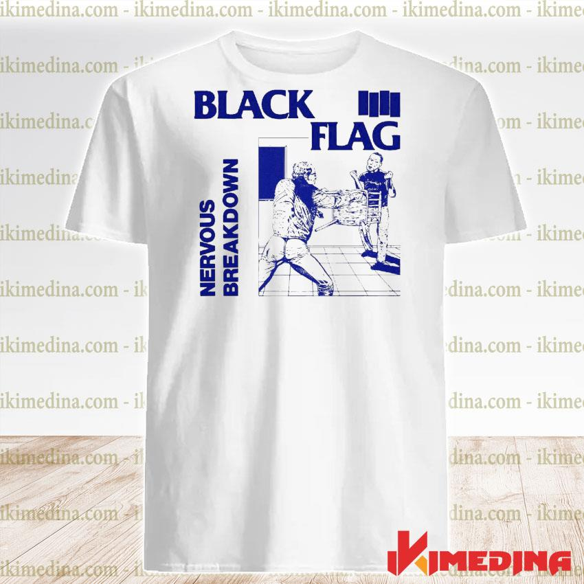 Official back nervous breakdown flag shirt