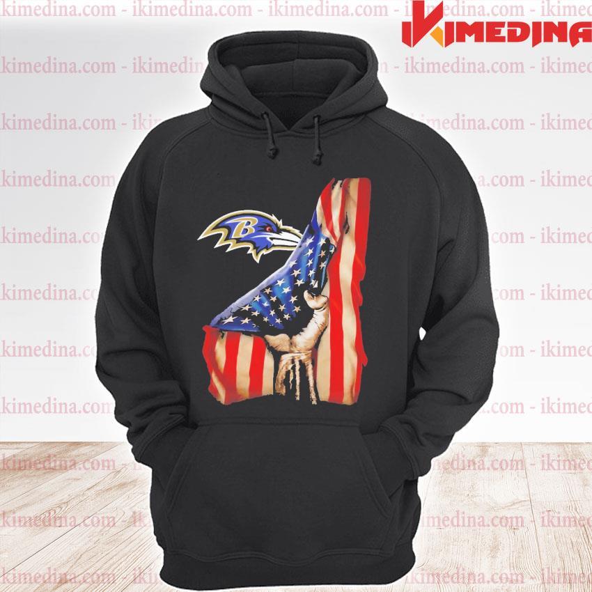 Official baltimore ravens american flag s premium hoodie