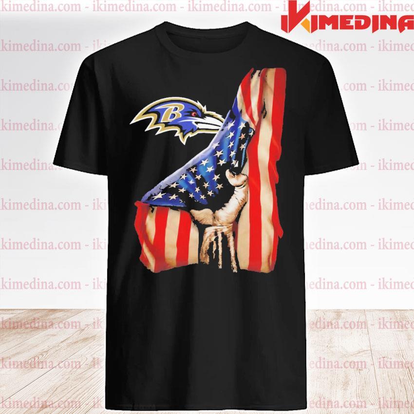 Official baltimore ravens american flag shirt