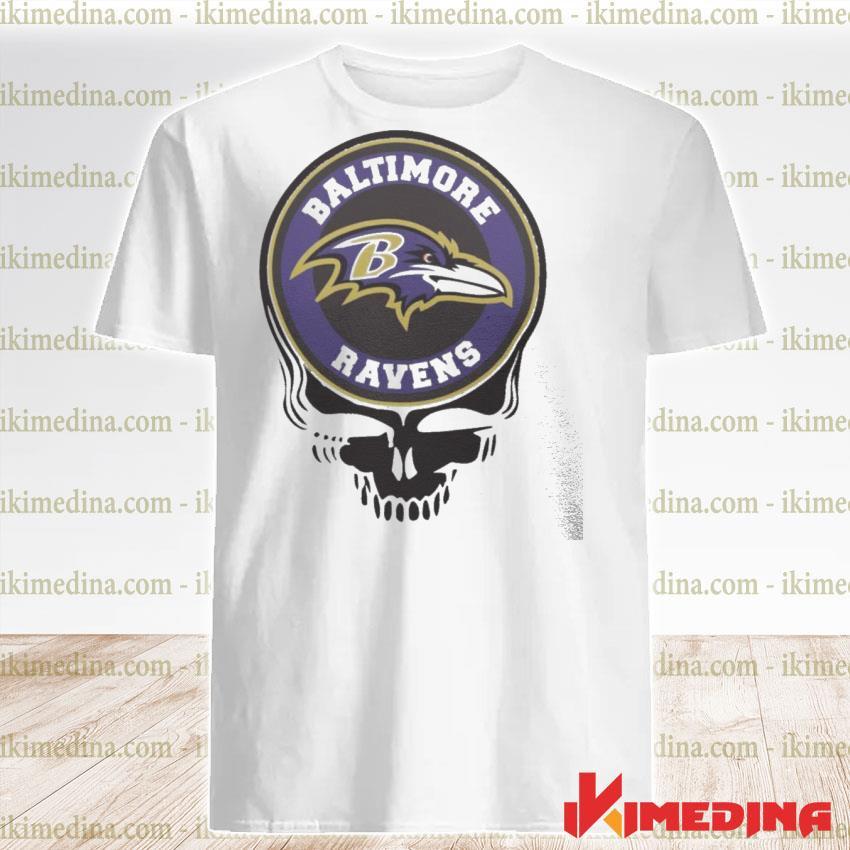 Official baltimore ravens football skull shirt