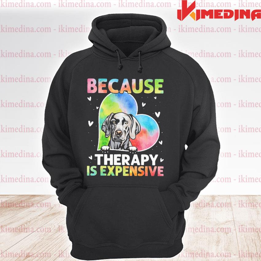 Official because therapy is expensive heart s premium hoodie