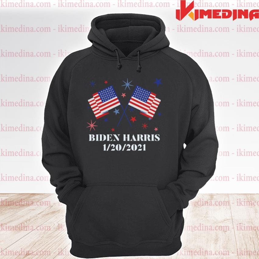 Official biden harris 1202021 inauguration american flags s premium hoodie
