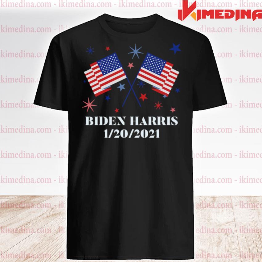 Official biden harris 1202021 inauguration american flags shirt