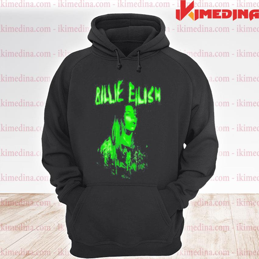 Official billie eilish when we all fall asleep world tour cover neon s premium hoodie