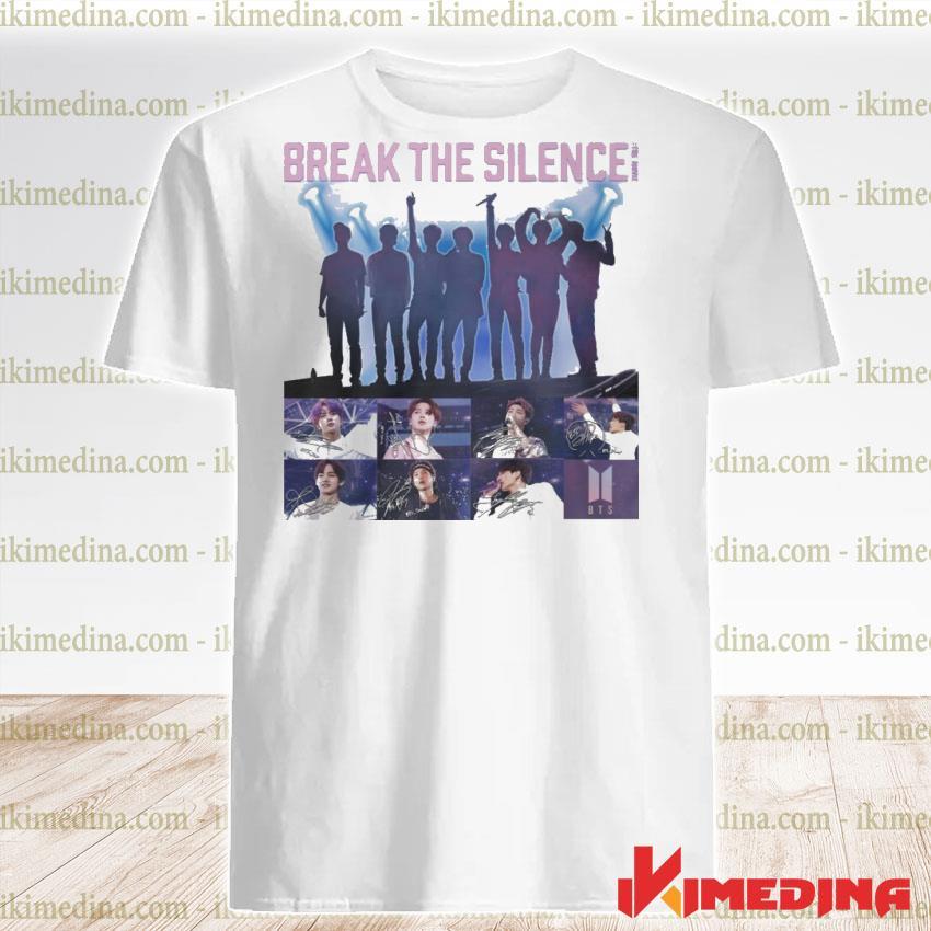 Official bts break the silence signatures shirt