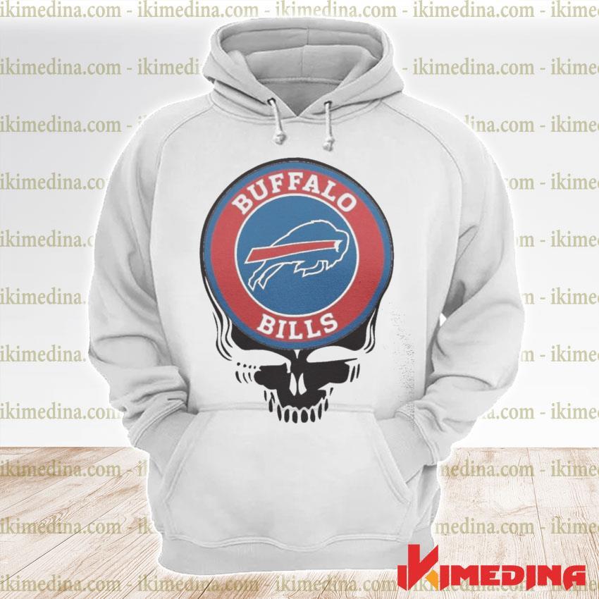 Official buffalo bills football skull s premium hoodie