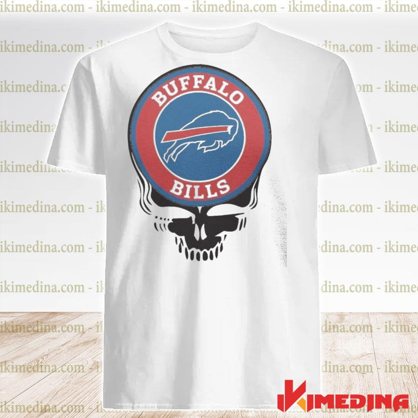 Official buffalo bills football skull shirt