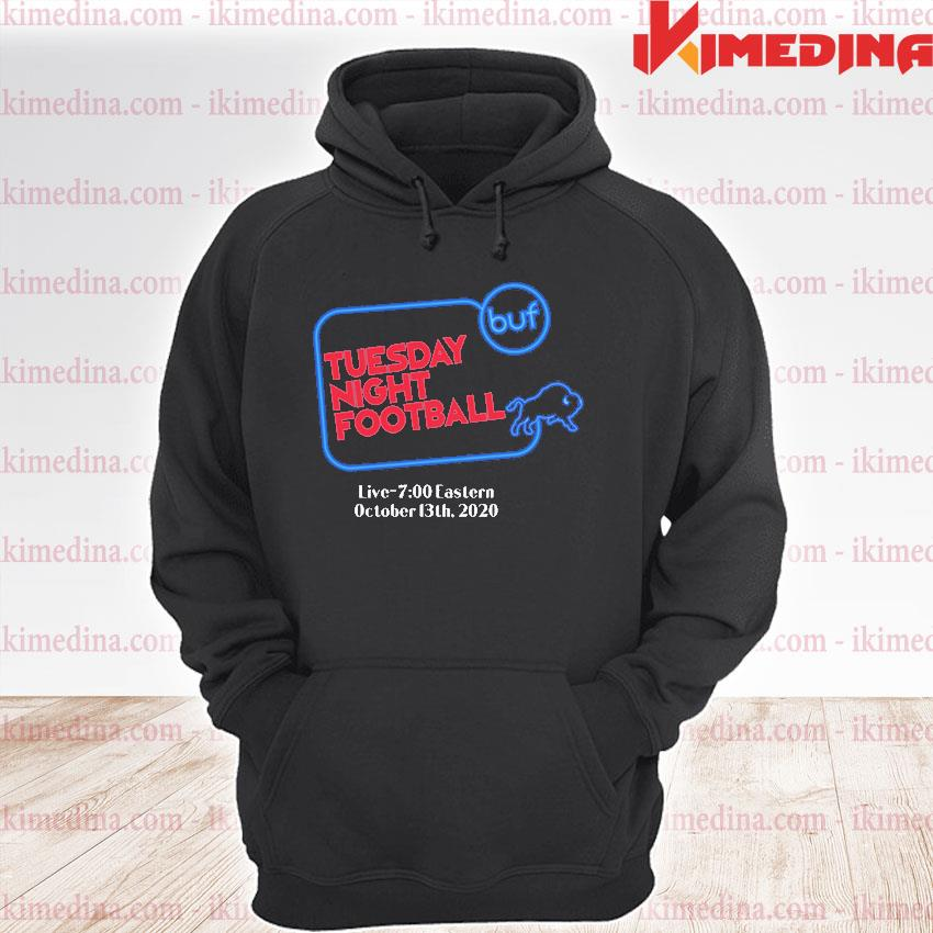 Official buffalo bills tuesday night football live 7 eastern october 2020 s premium hoodie