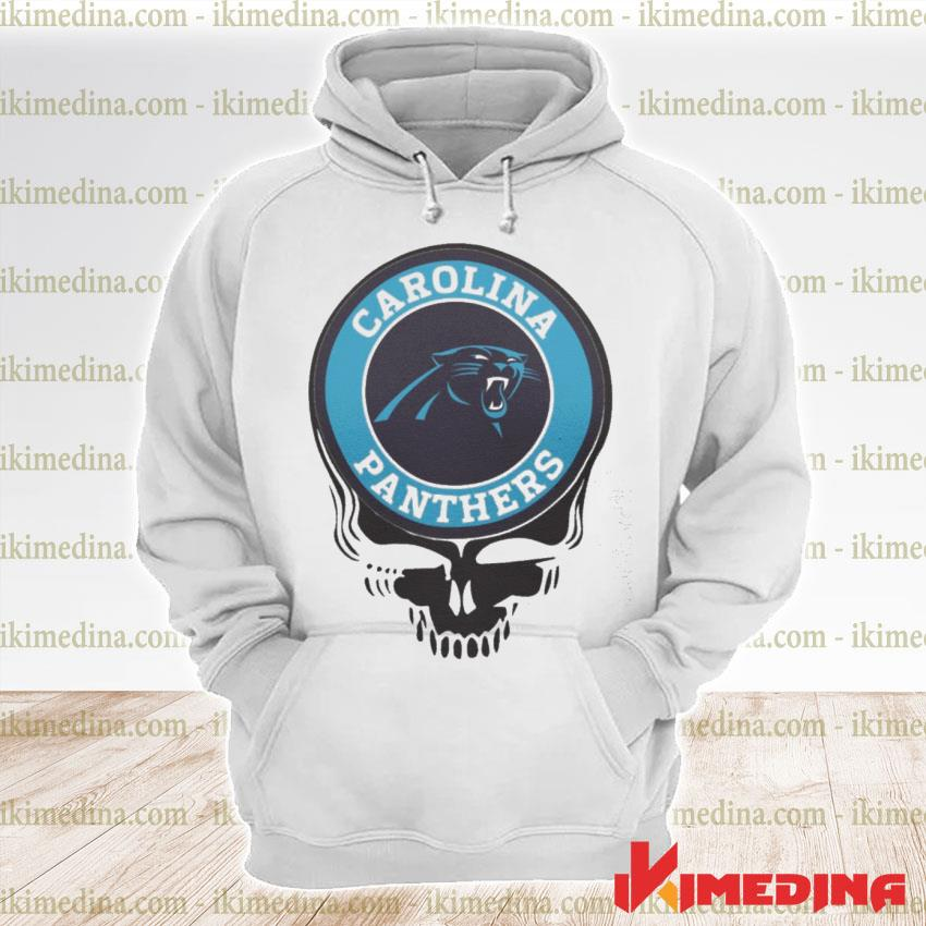 Official carolina panthers football skull s premium hoodie
