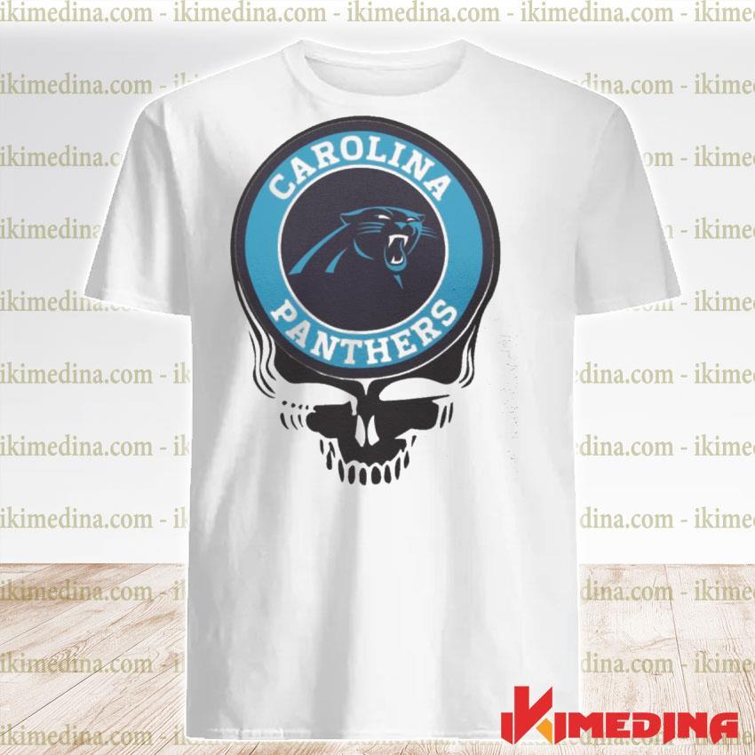 Official carolina panthers football skull shirt
