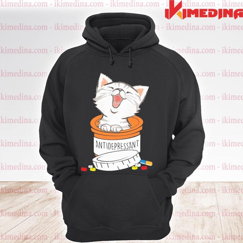 Official cat antidepressant s premium hoodie