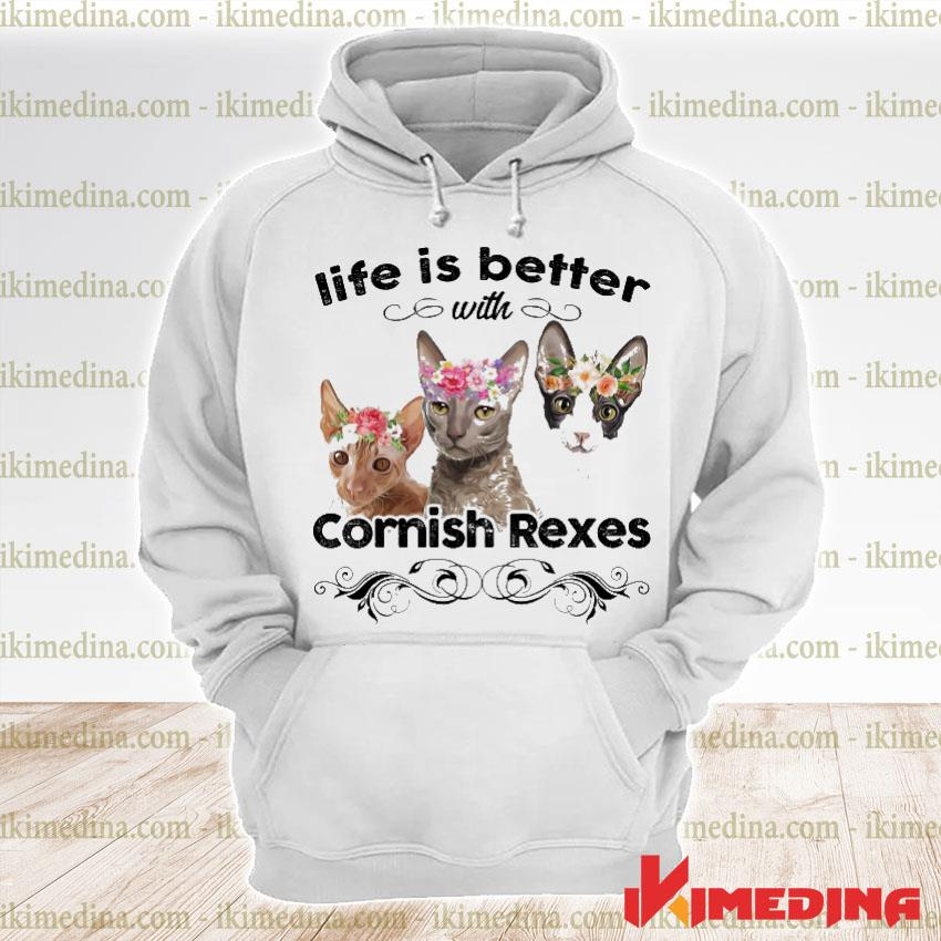 Official cat life is better cornish rexes s premium hoodie