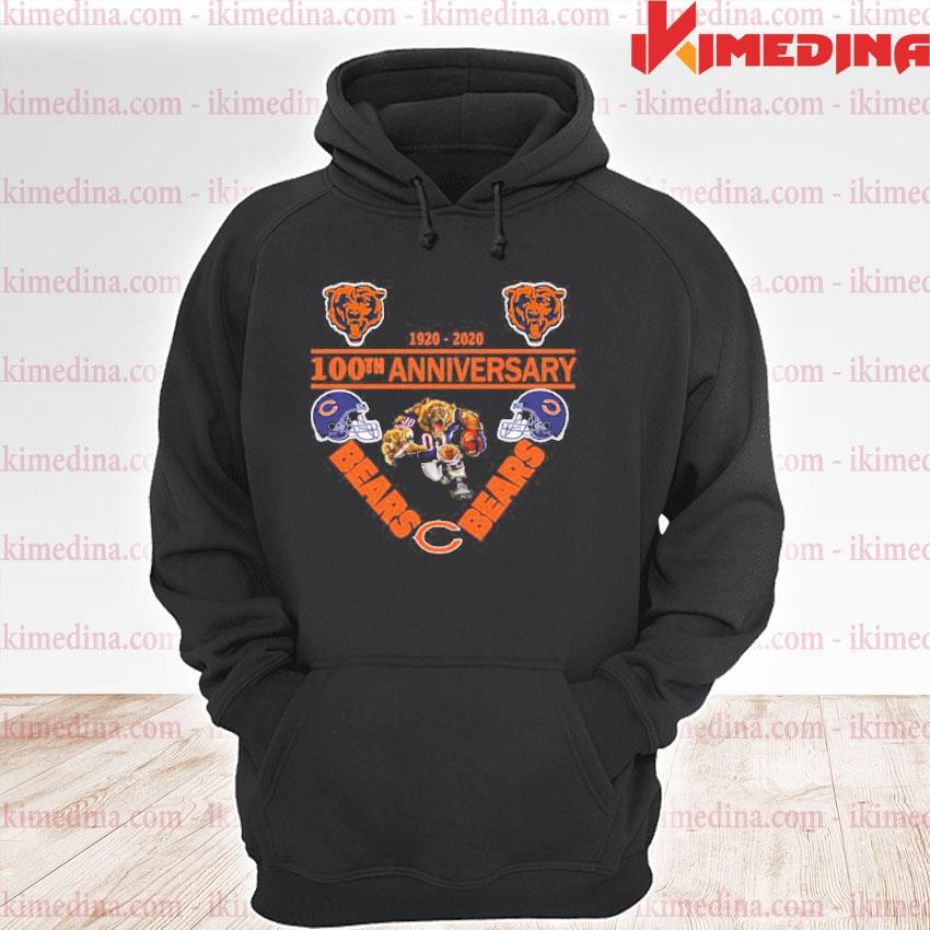 Official chicago bears 1920-2020 100th anniversary s premium hoodie