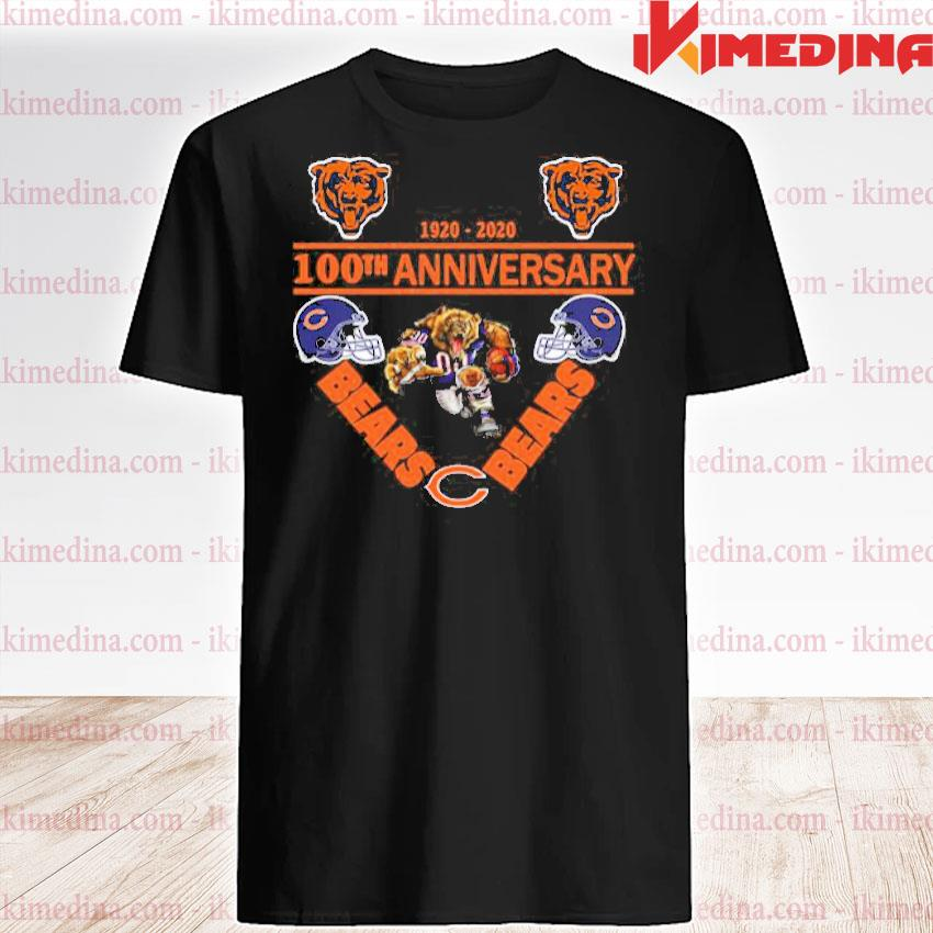 Official chicago bears 1920-2020 100th anniversary shirt
