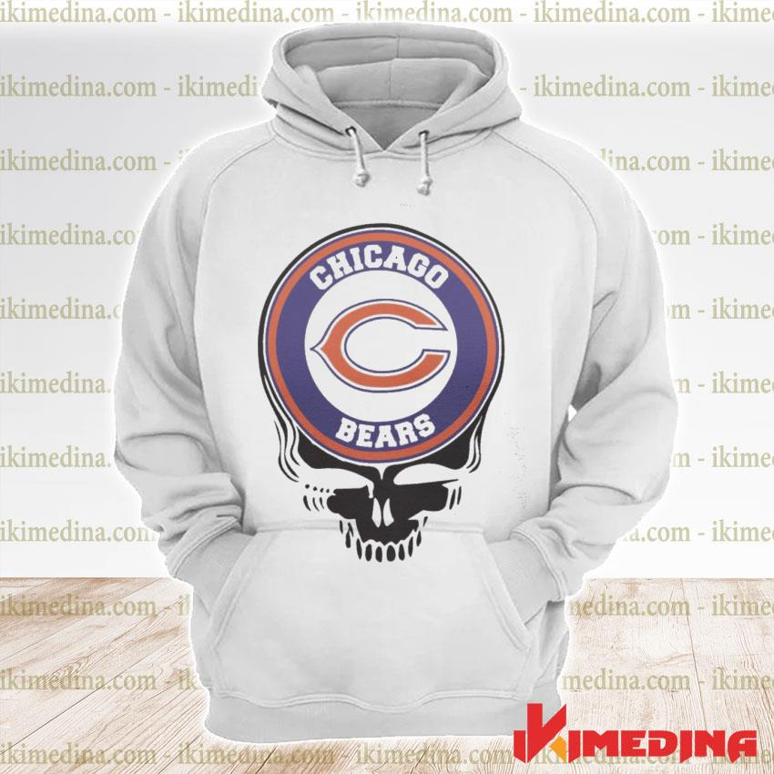 Official chicago bears football skull s premium hoodie