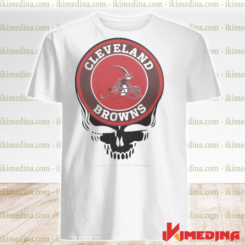 Official cleveland browns football skull shirt
