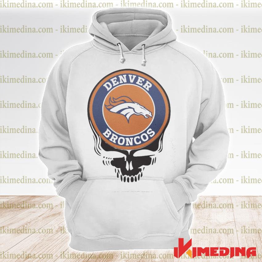 Official denver broncos football skull s premium hoodie