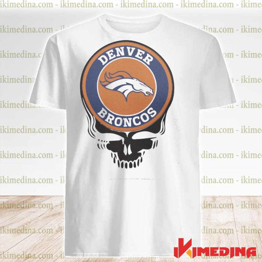 Official denver broncos football skull shirt