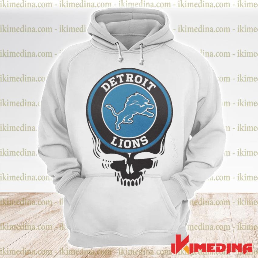 Official detroit lions nfl football skull s premium hoodie