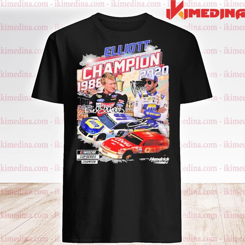Official elliott nascar cup series champion 1988-2020 signatures shirt