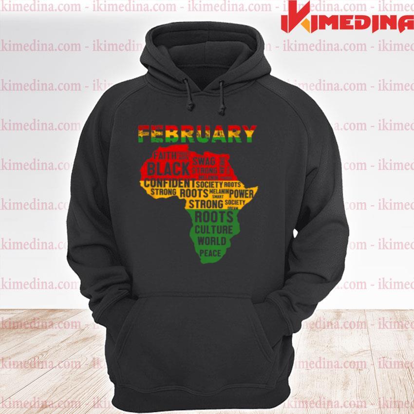 Official february faith trust hope black confident s premium hoodie