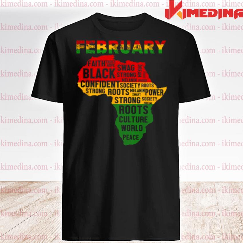 Official february faith trust hope black confident shirt