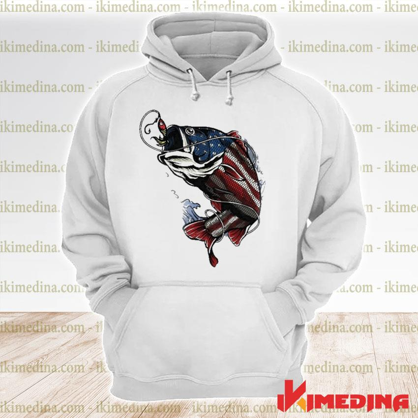 Official fishing american flag 2021 s premium hoodie