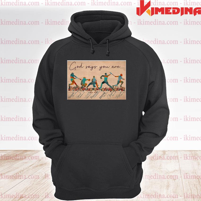 Official god says you are s premium hoodie