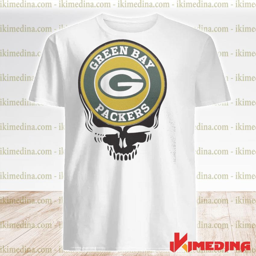 Official green bay packers football skull shirt