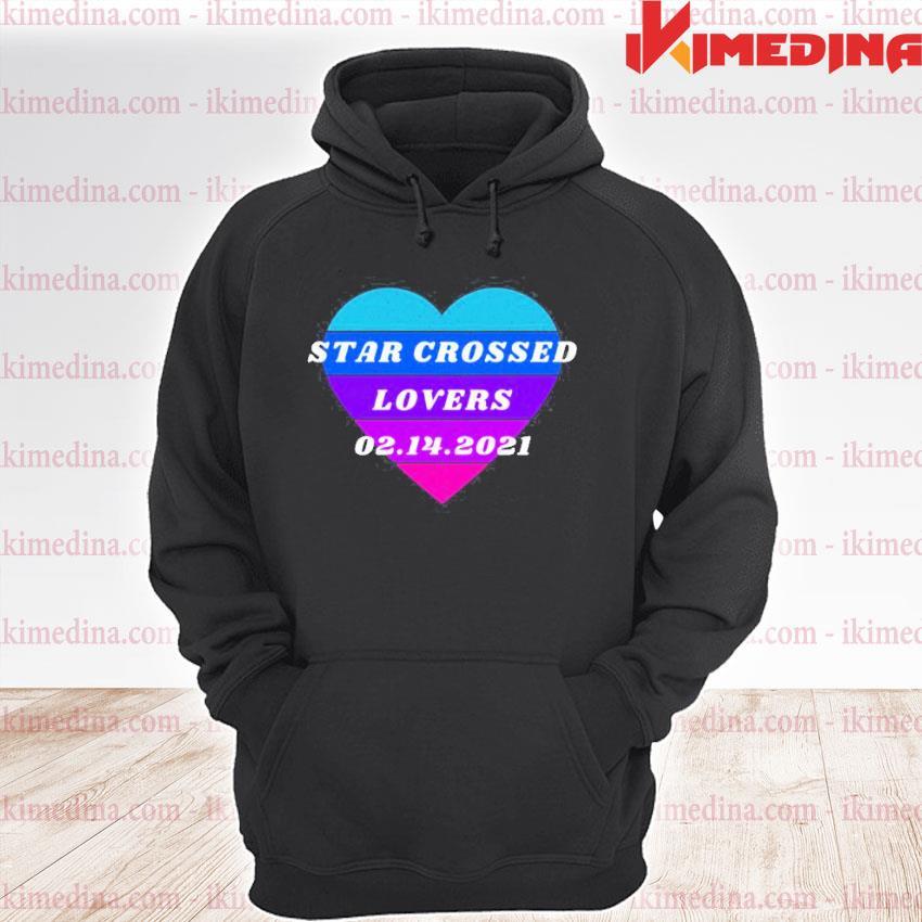 Official heart star crossed lovers 02.14 premium hoodie