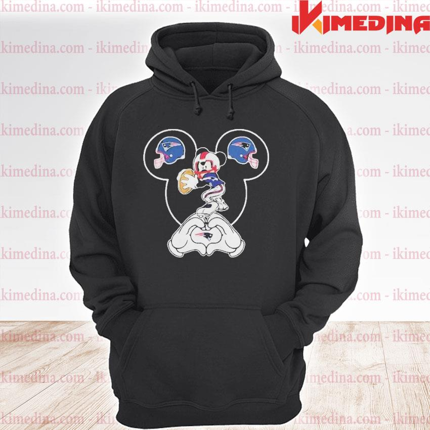 Official i love the patriots mickey mouse new england patriots s premium hoodie