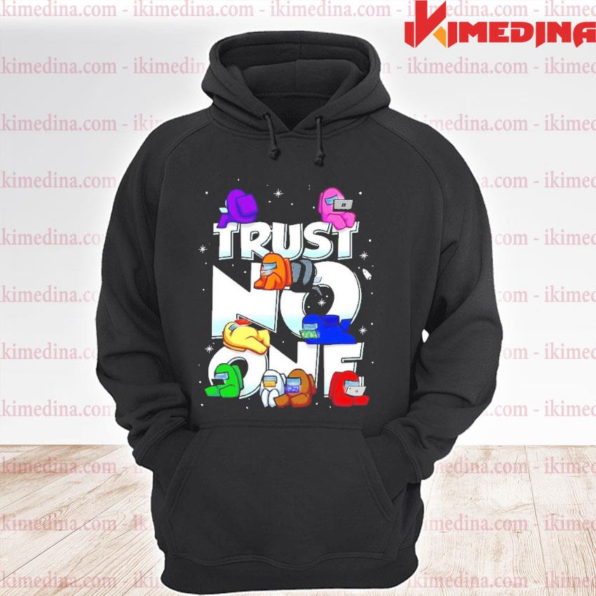 Official impostor among us trust no one s premium hoodie