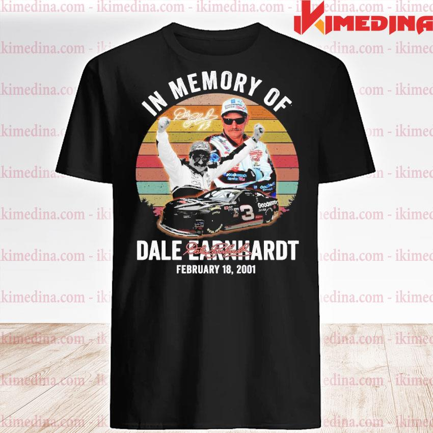 Official in memory of dale earnhardt february 18 2001 vintage signatures shirt