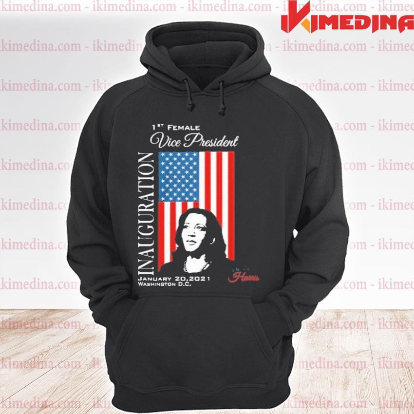 Official inauguration 2021 souvenir first female vp harris biden american flag s premium hoodie