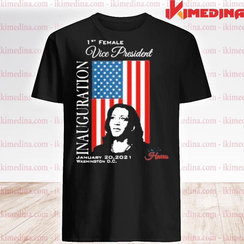 Official inauguration 2021 souvenir first female vp harris biden american flag shirt