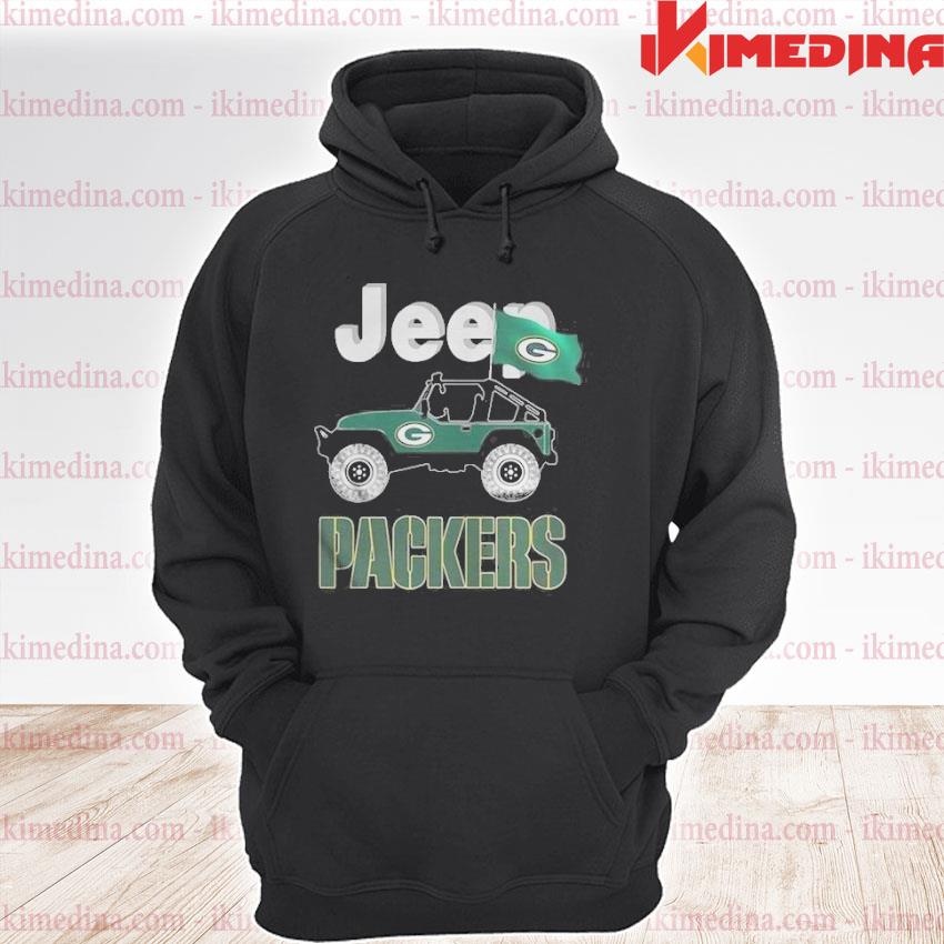 Official jeep green bay packers flag s premium hoodie