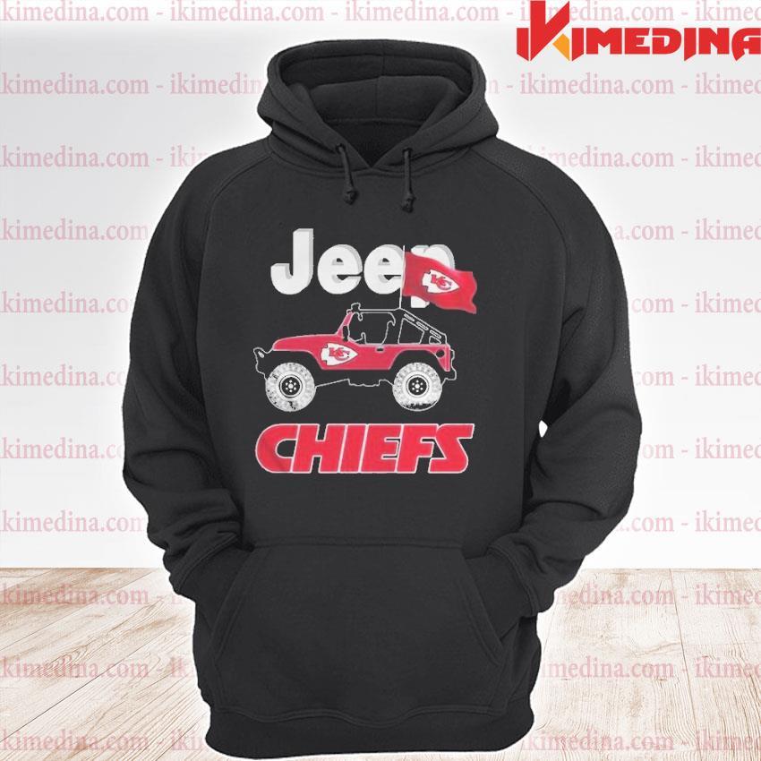 Official jeep kansas city chiefs fan s premium hoodie