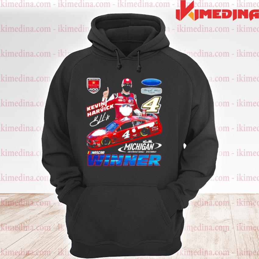 Official kevin harvick winner michigan nascar s premium hoodie