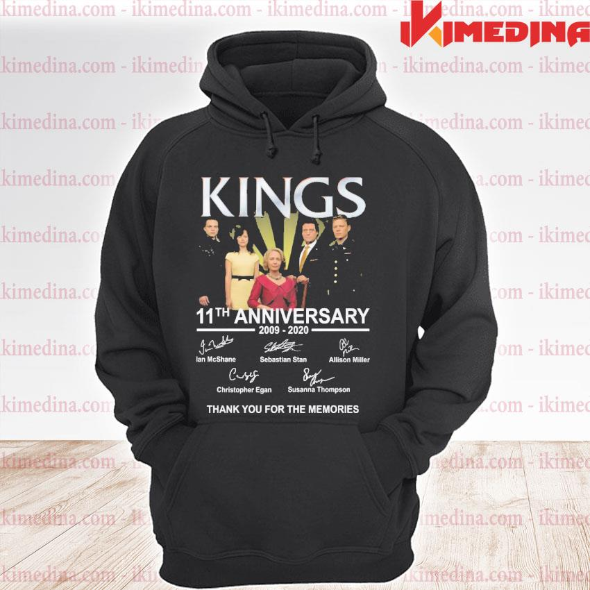 Official kings 11th anniversary 2009 2020 thank you for the memories signatures s premium hoodie
