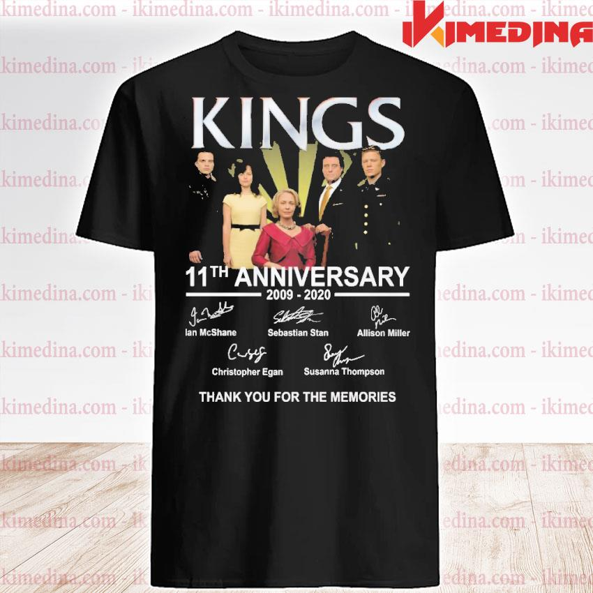 Official kings 11th anniversary 2009 2020 thank you for the memories signatures shirt