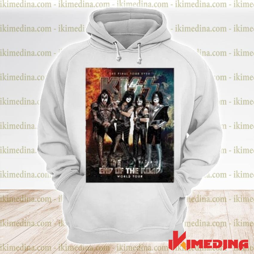 Official kiss band end of the road world tour 2021 s premium hoodie