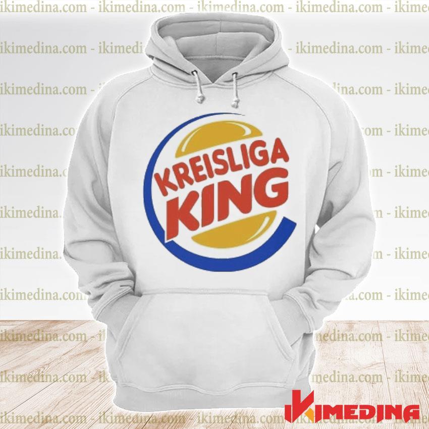Official kreisliga king logo s premium hoodie