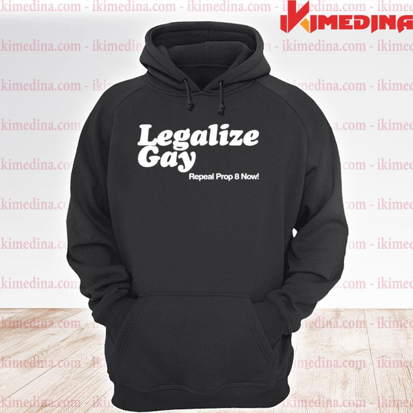 Official legalize gay repeal prop 8 now s premium hoodie