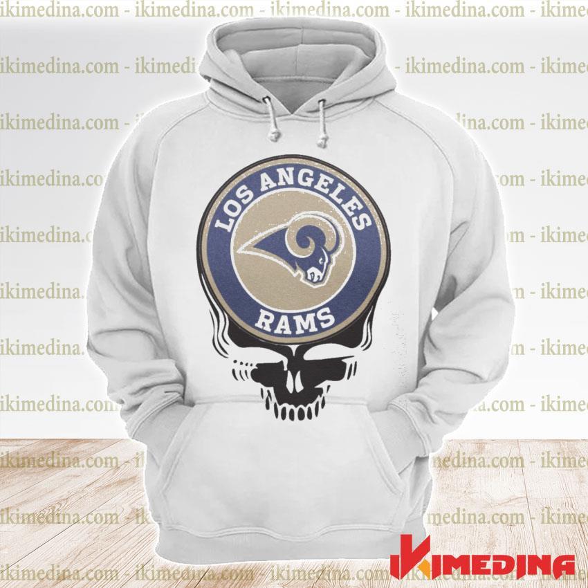 Official los angeles rams football skull s premium hoodie