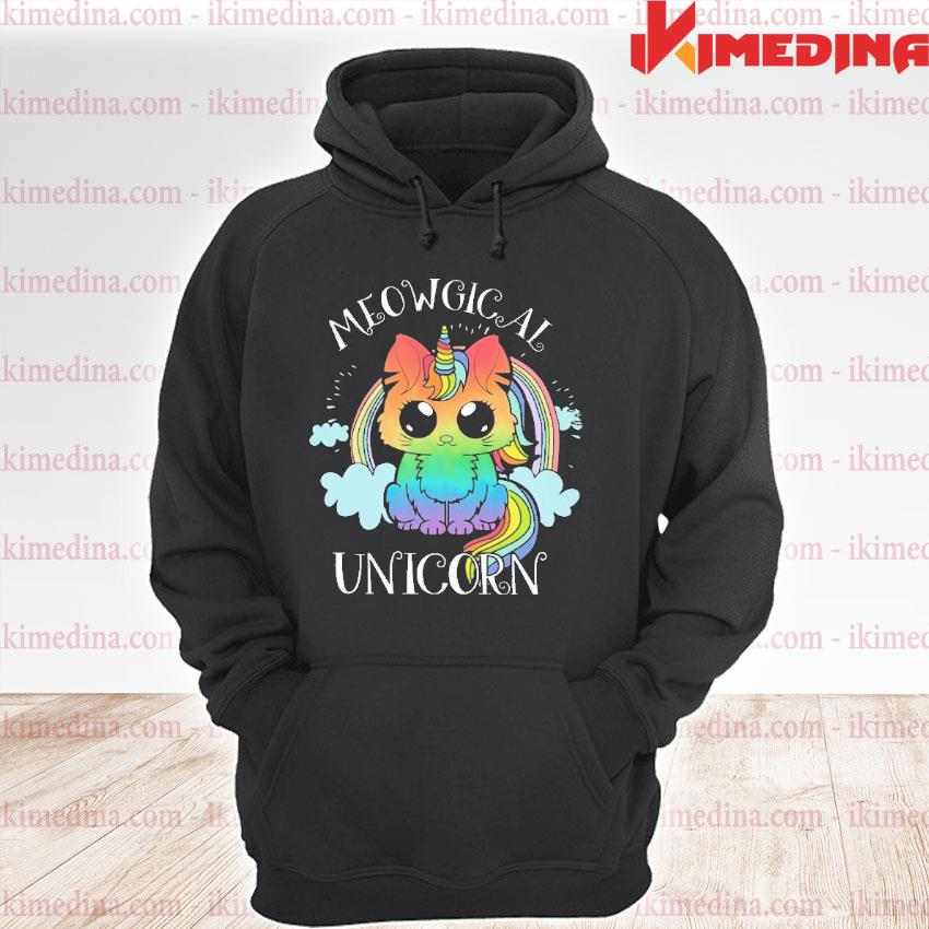 Official meowgical unicorn s premium hoodie