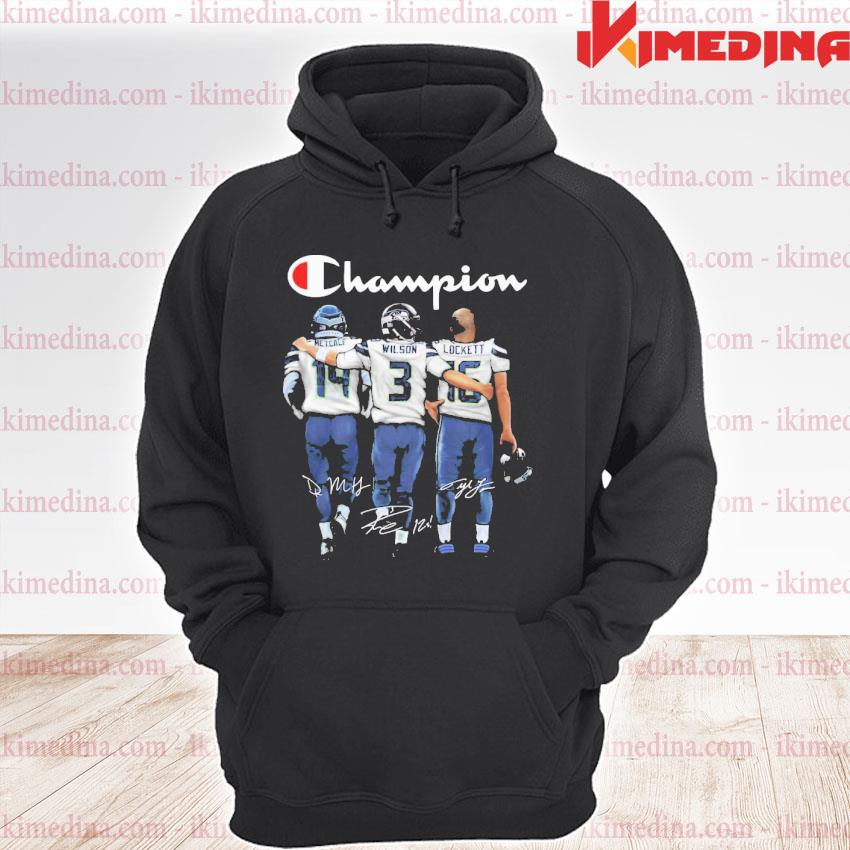 Official metcalf russell wilson and tyler lockett champions signatures s premium hoodie