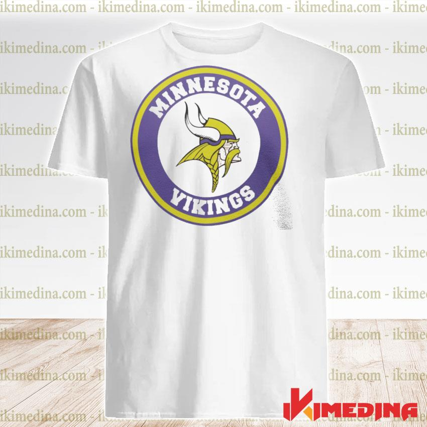 Official minnesota vikings logo shirt